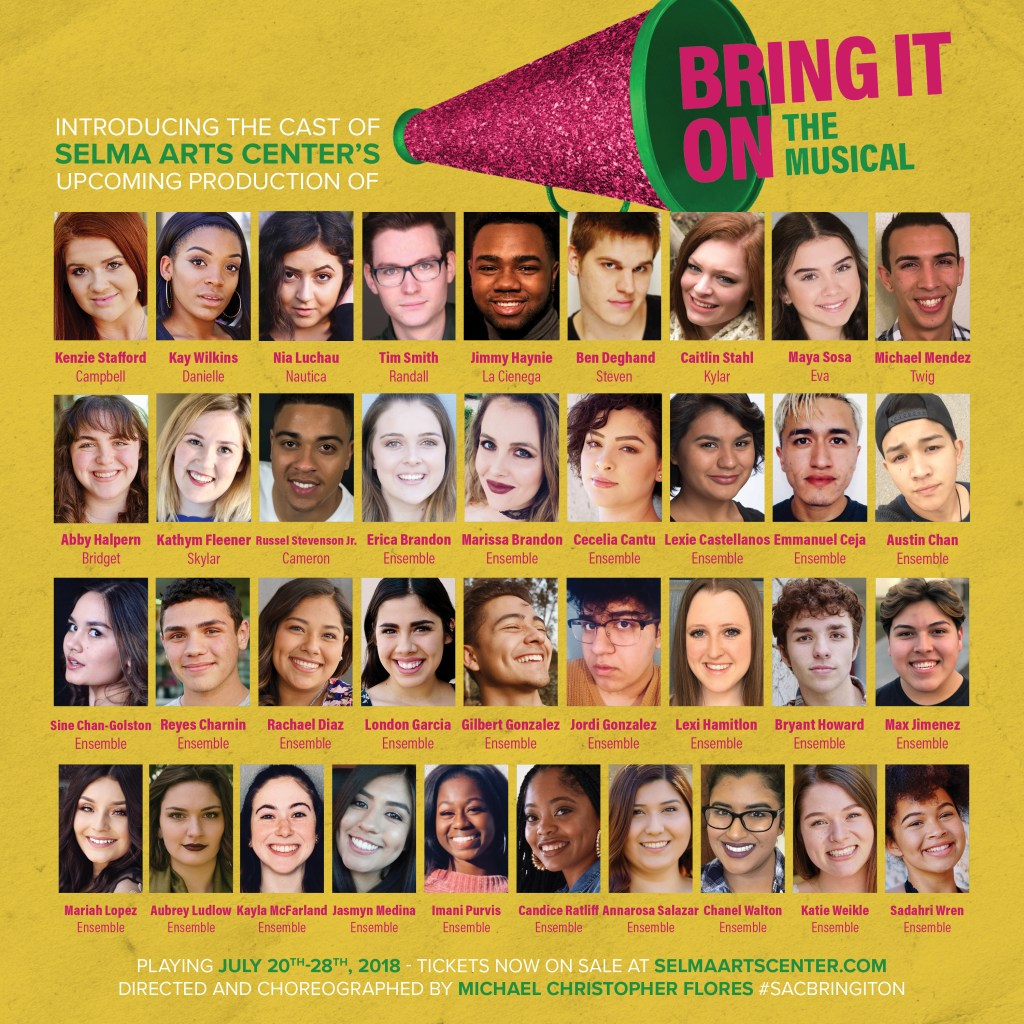 announcement the cast of bring it on the musical selma arts center