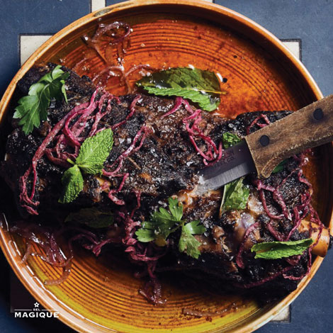 SLOW-ROAST SPICED LAMB SHOULDER