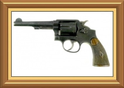 gold frame and revolver