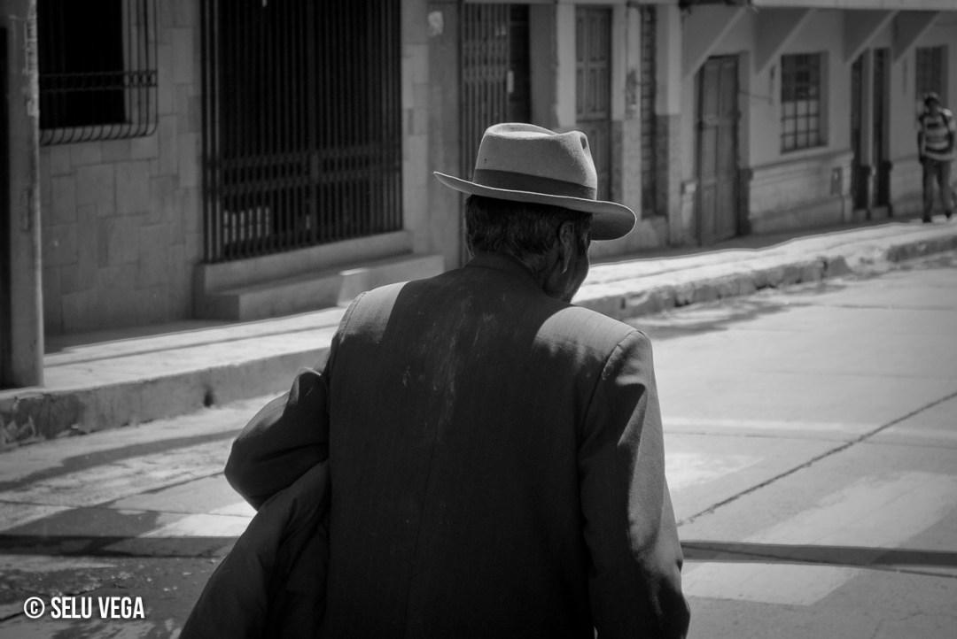 Señor con sombrero en Puno