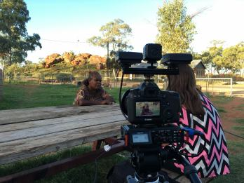 BSA Red Centre Trip - Interviewing the Translation in Ernabella
