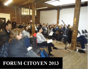 Forum citoyen 2013