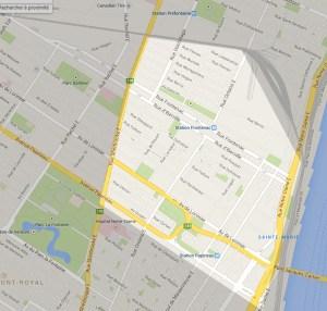 Carte secteur Sainte-Marie Montréal