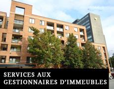 Services aux gestionnaires d'immeubles