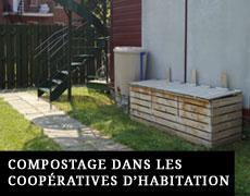 Compostage dans les coopératives d'habitation