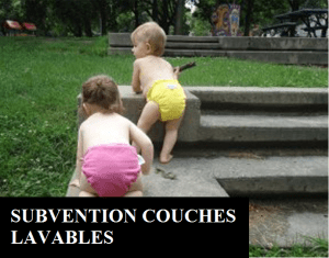 Subvention couches lavables