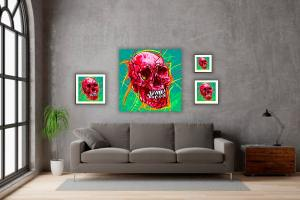 IN SITU EDITION SKULL 03 ROUGE