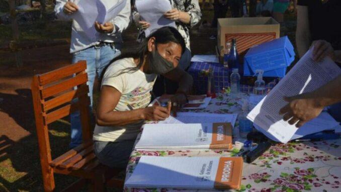 """Asentamiento """"Alberto Fernández"""": Ocuparon tierras en Misiones y le pusieron el nombre del presidente"""