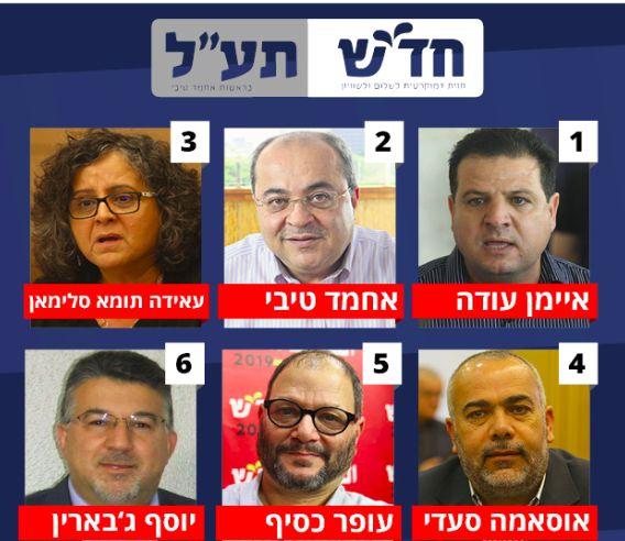 Los diputados electos de Hadash-Ta´al