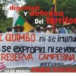 14 de marzo: paro cívico por la defensa del territorio en el Quimbo
