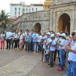 Plantón por la paz en Cartagena