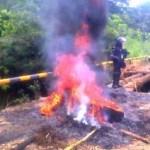Policía arremete contra campesinos en Puerto Asís