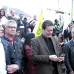 Con plantón en Bogotá piden cese bilateral de fuego