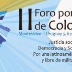 5 a 7 de junio en Uruguay: Foro por la paz en Colombia