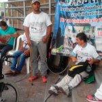 Trabajadores encadenados en Neiva, Huila