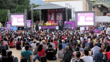 Aspecto del Festival de Poesía de Medellín.