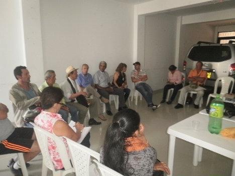Vista parcial reunión unitaria en Líbano, Tolima. Foto Nelosi.