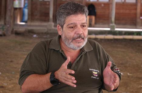 Marco León Calarcá, delegado de paz de las FARC.