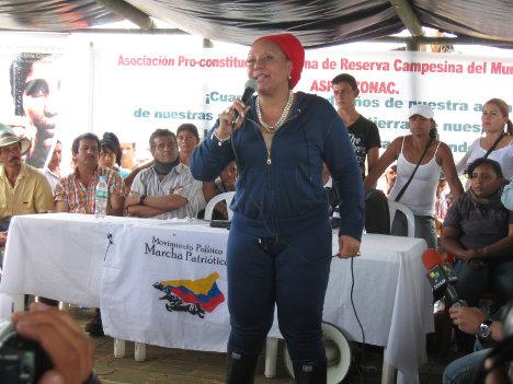 Piedad Córdoba, en el Cauca.