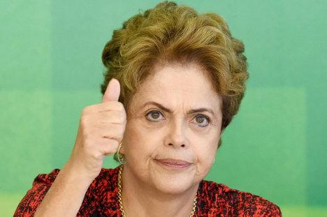 Dilma Rousseff, víctima de una conspiración de la derecha brasileña.