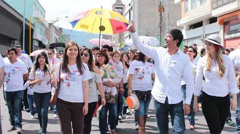 Movilización por la paz en Nariño. Foto Archivo.