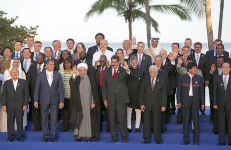 Aspecto de la Cumbre de los No Alineados, realizada en Isla Margarita, en Venezuela.