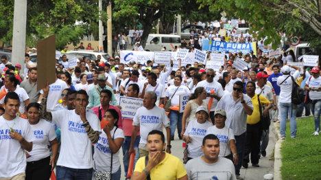 Aspecto de las numerosas protestas de los usuarios de Electricaribe contra el mal servicio que reciben en siete departamentos de la costa Atlántica.