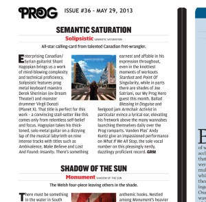 Prog Magazine #36 - Semantic Saturation Review