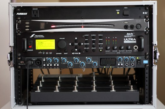 Guitar Effects Rack used on the debut album: Solipsistic