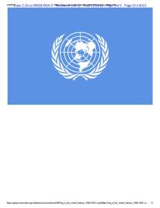 Exhibit K, UN flag