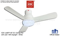 "(Free Install) KDK U48FP 48"" DC LED Ceiling Fan (White ..."