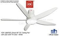 """KDK U60FW 60"""" DC Motor LED Ceiling Fan (White)"""
