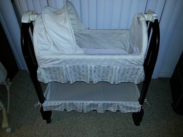 Eddie bauer wooden bassinet for sale