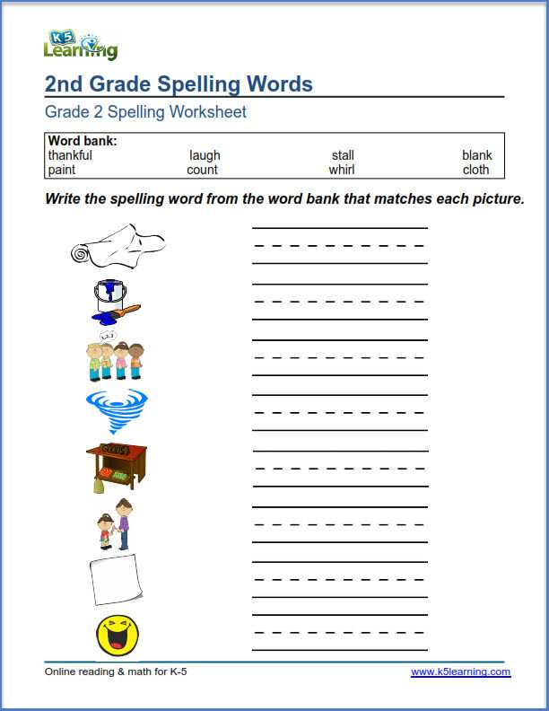 2nd Grade Spelling Worksheets Pdf with 2nd Grade Spelling Worksheets for All