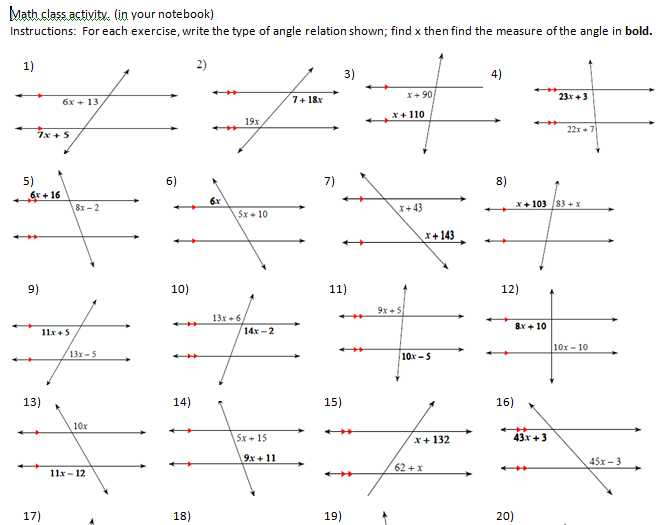 3 1 Lines and Angles Worksheet Answers and Worksheets 50 Re Mendations Parallel Lines and Transversals