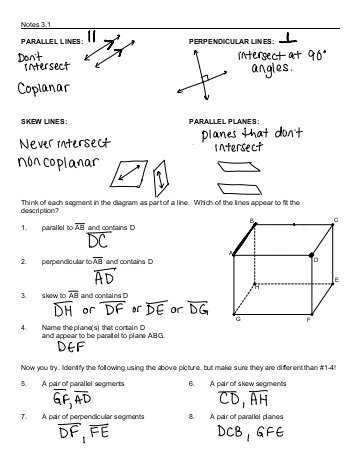 3.3 Proving Lines Parallel Worksheet Answers with More About Parallel Lines Notes Proving Lines are Parallel Dual