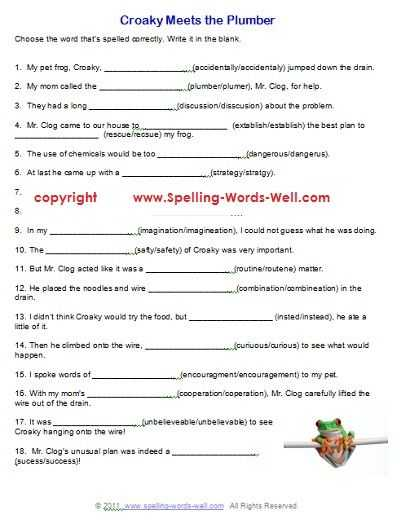 6th Grade English Worksheets or 9 Best 7th Grade Spelling Images On Pinterest