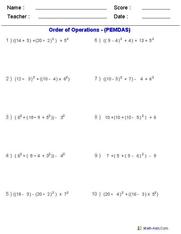 7th Grade order Of Operations Worksheet Pdf with 4767 Best Matematica 5 9 Images On Pinterest