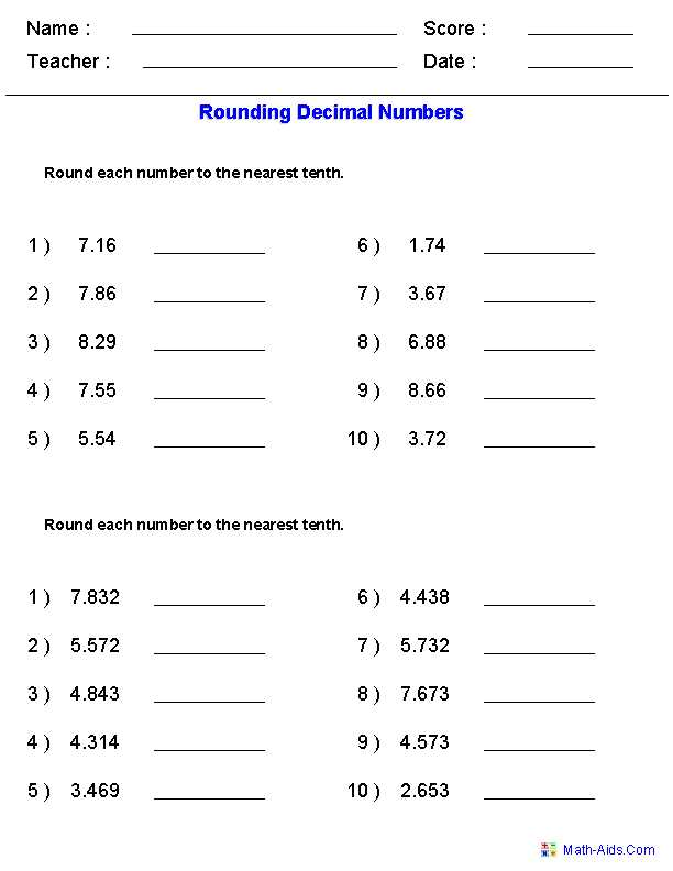 8th Grade Common Core Math Worksheets Also Rounding Worksheets with Decimals This Worksheet Was Built to Aligns