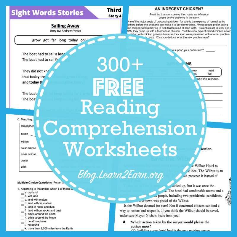 8th Grade Reading Comprehension Worksheets Along with 20 Websites for Free Reading Prehension Worksheets