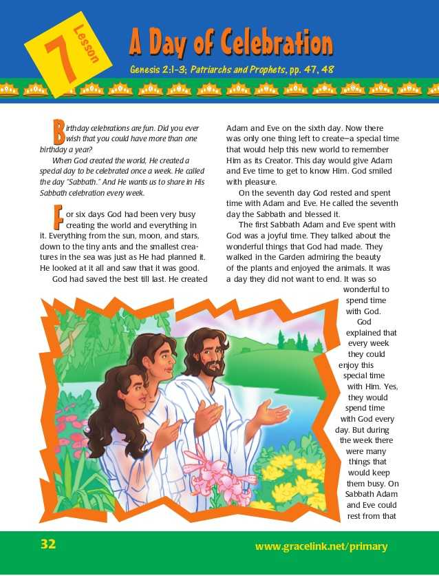 Adam and Eve Worksheets or Lesson 7 Primary Sabbath School