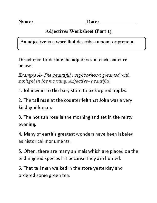 Adjective and Adverb Worksheets with Answer Key as Well as 11 Best Lang Arts Images On Pinterest