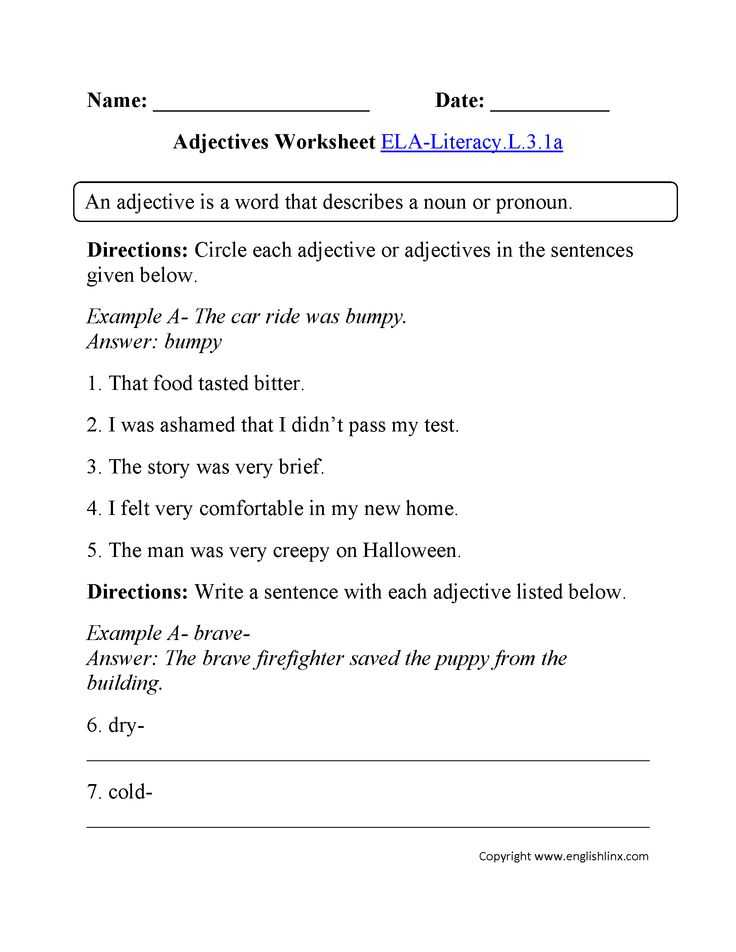 Adjective and Adverb Worksheets with Answer Key with 27 Best L 3 1 Images On Pinterest