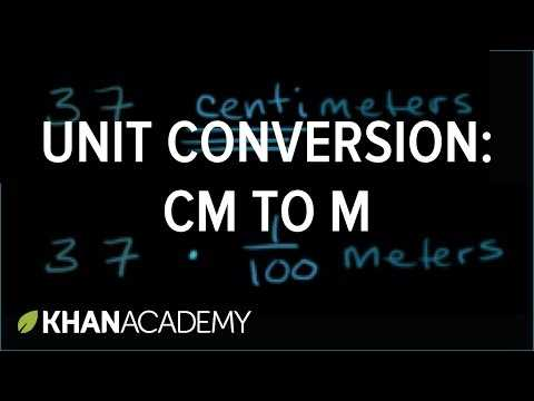Algebra 1 Unit Conversion Worksheet Answers and Converting Units Centimeters to Meters Video