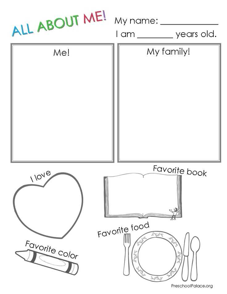 All About Me Worksheet Middle School Pdf with 151 Best Myself Printables Images On Pinterest