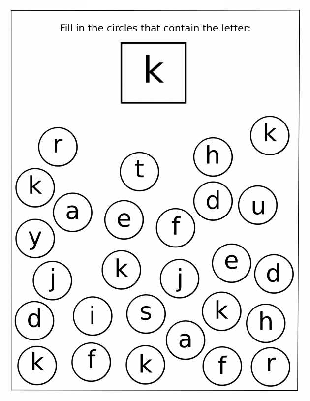Alphabet Worksheets for Pre K or Letter K Worksheets Worksheets for All