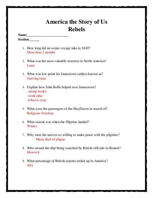 America the Story Of Us Revolution Worksheet Answer Key Along with America Story Us Cities Worksheet Choice Image Worksheet Math