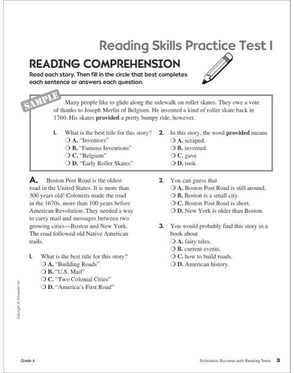 America the Story Of Us Worksheet Answers and Scholastic Success with Reading Tests Grade 4 by