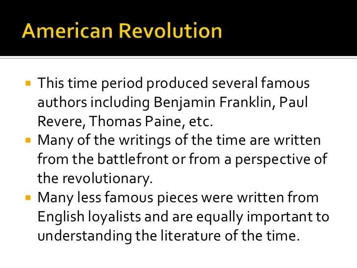 American Revolution Timeline Worksheet with Literature During the American Revolution
