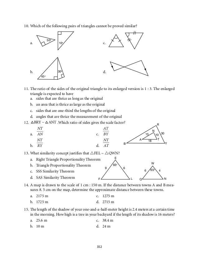Angle Bisector Worksheet Answer Key as Well as Grade 9 Mathematics Module 6 Similarity
